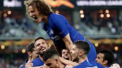 Trofeum Ligi Europejskiej dla piłkarzy Chelsea. W finale pokonali Arsenal