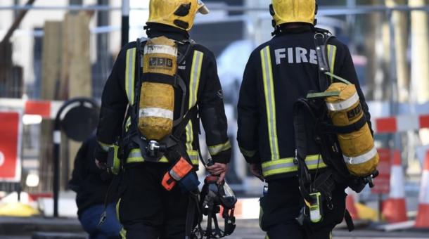 Pożar budynku  w Londynie