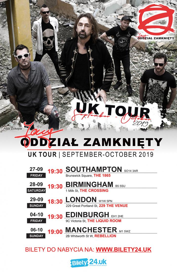 JARY ODDZIAŁ ZAMKNIĘTY - UK TOUR