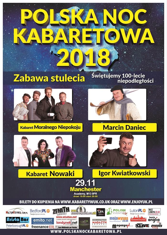 Polska Noc Kabaretowa w Manchester